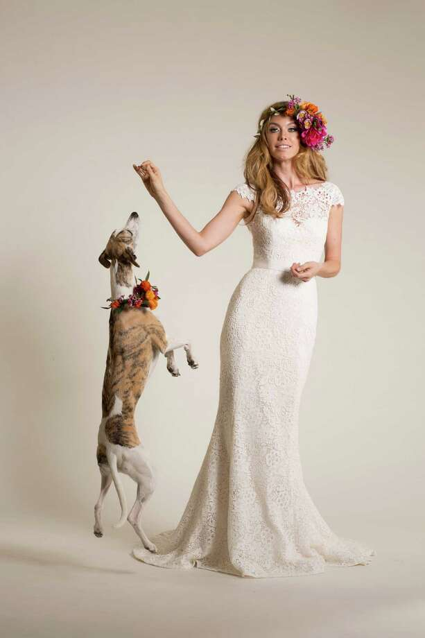 A look from bridal designer Amy Kuschel's 2015 Peace & Love collection. Photo: KELLY FAJACK / Amy Kuschel / ONLINE_YES
