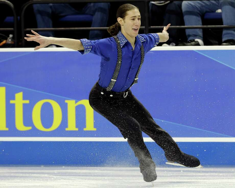 Jason Brown performs during the men's short program in the U.S. Figure Skating Championships in Greensboro, N.C., Friday, Jan. 23, 2015. (AP Photo/Gerry Broome) Photo: Gerry Broome / Associated Press / AP