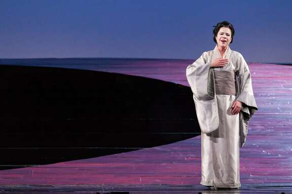 "Ana Maria Martinez plays the title role in Houston Grand Opera's staging of Giacomo Puccini's ""Madama Butterfly."""