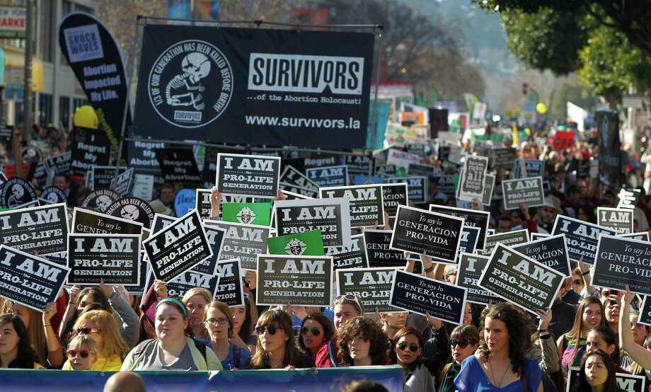 Thousands of antiabortion demonstrators participate in the Walk for Life march from Civic Center to the Ferry Building in San Francisco, Calif. on Saturday, Jan. 24, 2015. Photo: Paul Chinn / The Chronicle / ONLINE_YES