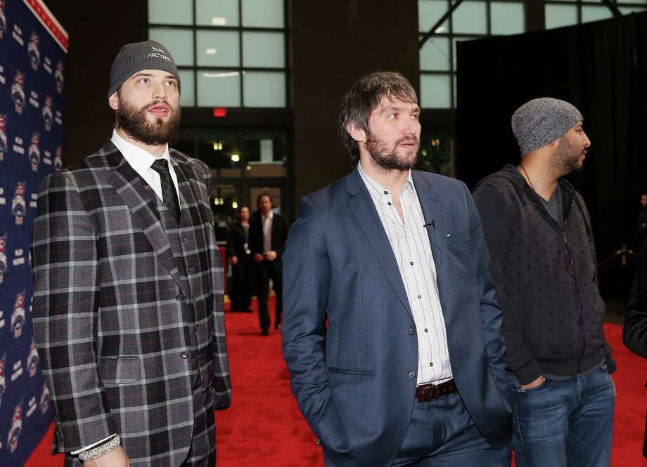 Sharks defenseman Brent Burns (left) and Washington's Alex Ovechkin will play for Team Foligno on Sunday. Photo: Bruce Bennett / Getty Images / 2015 Getty Images