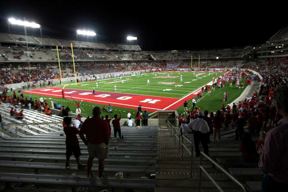 The stands a TDECU Stadium clear out during the fourth quarter an NCAA football game against UTSA on Friday, Aug. 29, 2014, in Houston. ( Brett Coomer / Houston Chronicle ) Photo: Brett Coomer, Staff / © 2014  Houston Chronicle