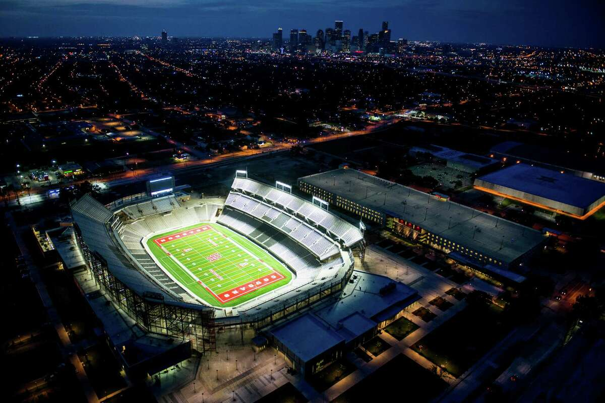 The 40,000-seat TDECU Stadium is the $120 million centerpiece of the University of Houston's athletic makeover.