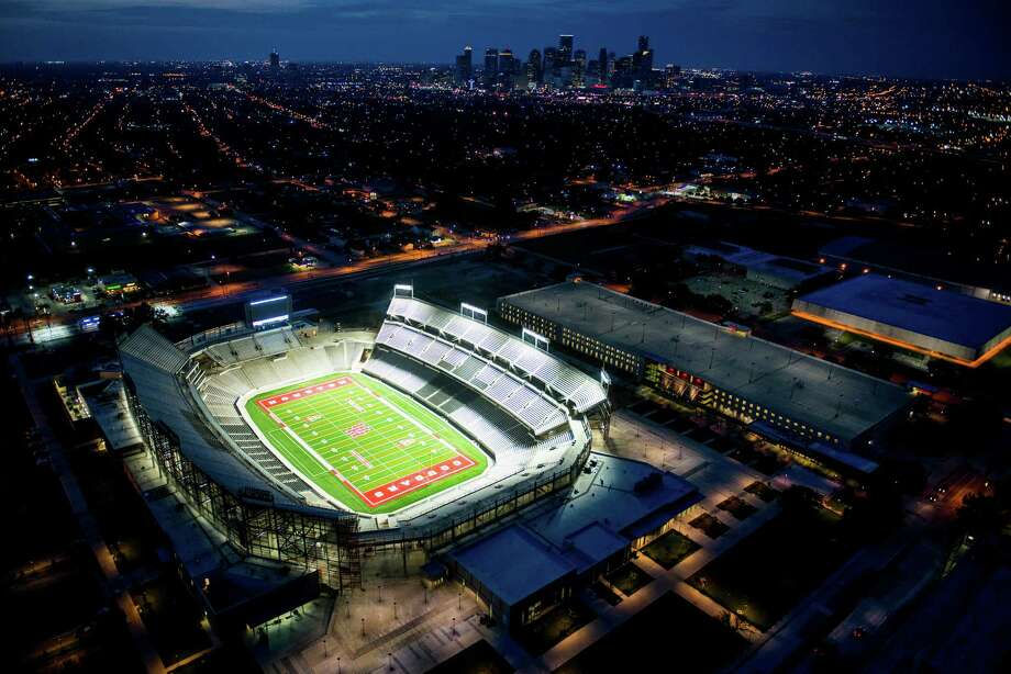 The 40,000-seat TDECU Stadium is the $120 million centerpiece of the University of Houston's athletic makeover. Photo: Smiley N. Pool, Staff / © 2014  Houston Chronicle