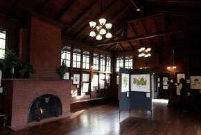 Julia Morgan Hall, designed by the famed architect, is seen here at its new location in the UC Botanical Garden in Berkeley.