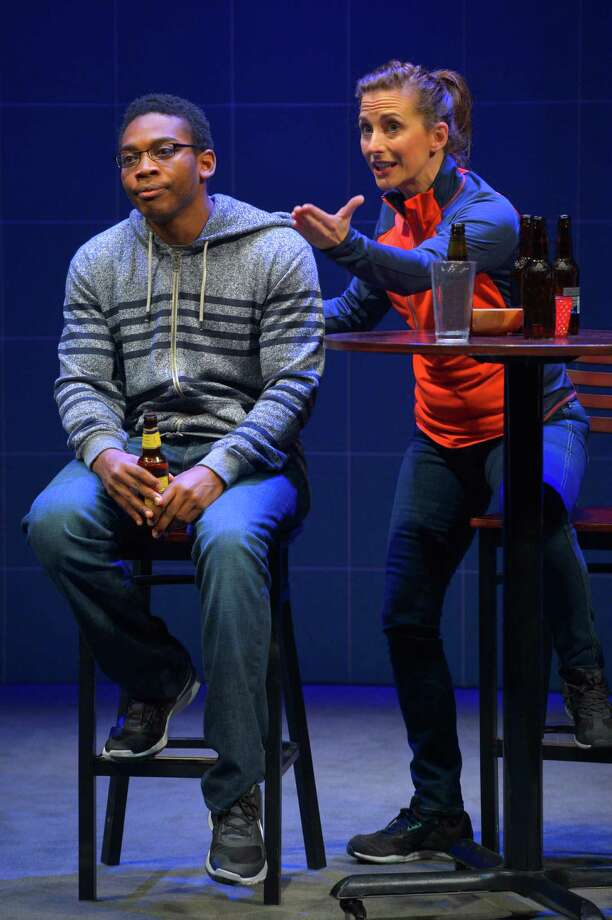 "Eddie Ray Jackson and Jenny Mercein, who co-created the show, play die-hard football fans in ""X's and O's."" Photo: Kevinberne.com / ONLINE_YES"
