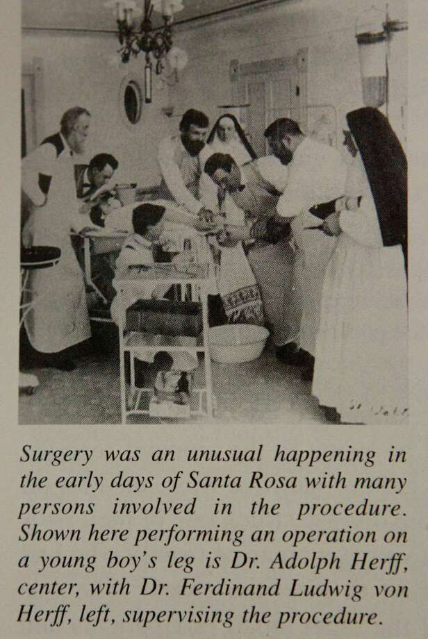 This picture copied from a book provided by the Sisters of Charity of the Incarnate Word Archives shows surgery being performed in the early days of Santa Rosa. Photo: John Davenport /San Antonio Express-News / ©San Antonio Express-News/John Davenport