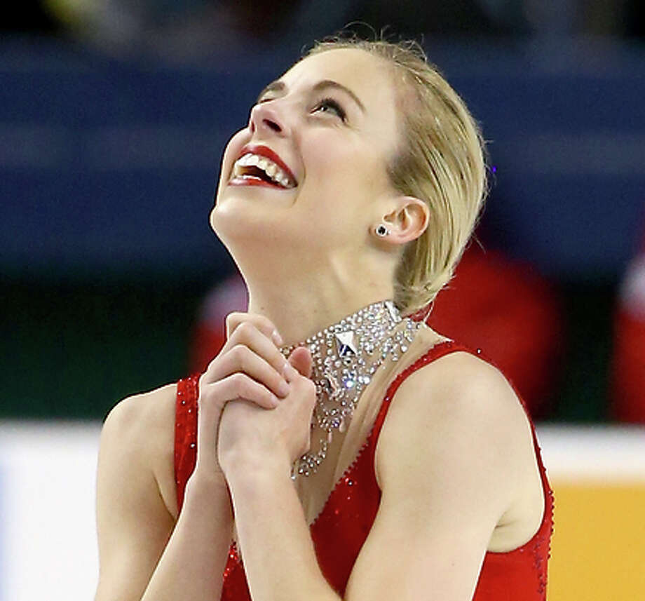 """Ashley Wagner skated to music from """"Moulin Rouge."""" Photo: Streeter Lecka / Getty Images / 2015 Getty Images"""