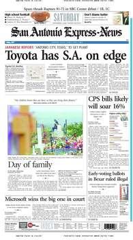 Nov. 2, 2002 Photo: Express-News File Photo