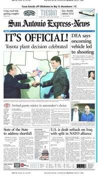 Feb. 11, 2003 Photo: Express-News File Photos