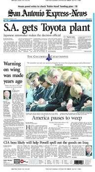 Feb. 5, 2003 Photo: Express-News File Photos