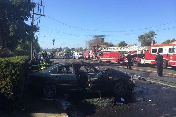 4 injured in fiery Vallejo crash involving motorcycle