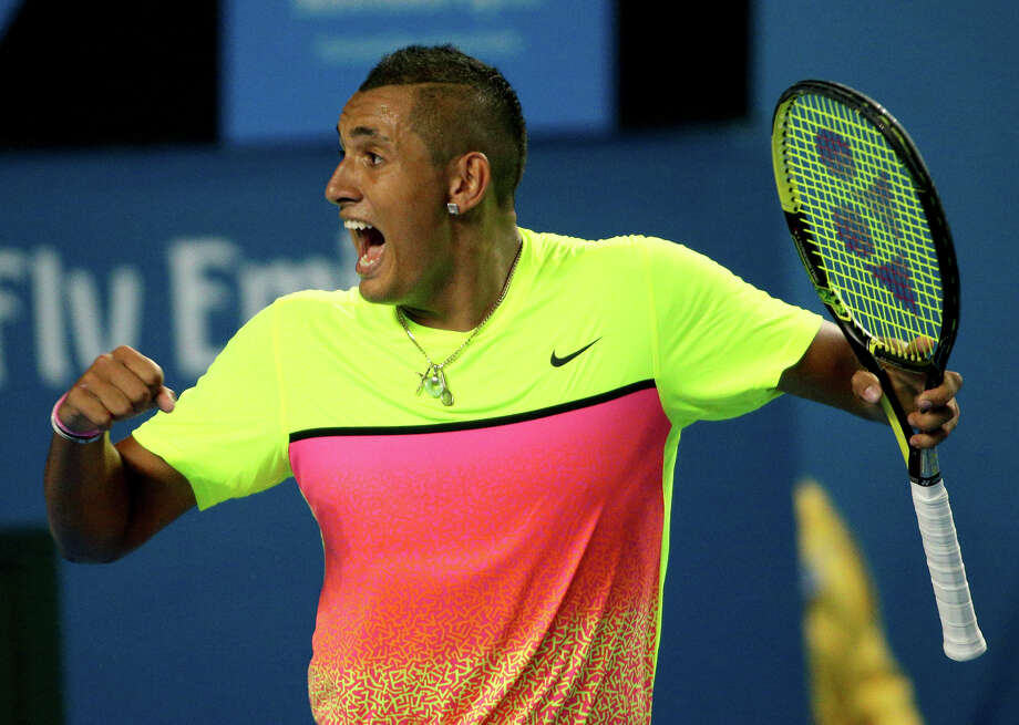 Nick Kyrgios, 19, is the first Australian since Lleyton Hewitt in 2005 to reach the Australian Open quarterfinals. Photo: Rob Griffith / Associated Press / AP