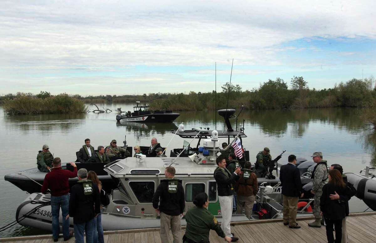 Texas is stepping up its own border security. A congressional delegation takes a tour of Anzaldua's Park in Mission, Texas Sunday, Jan. 25,2015 . The delegation were given boat tours on DPS boats and Border Patrol.