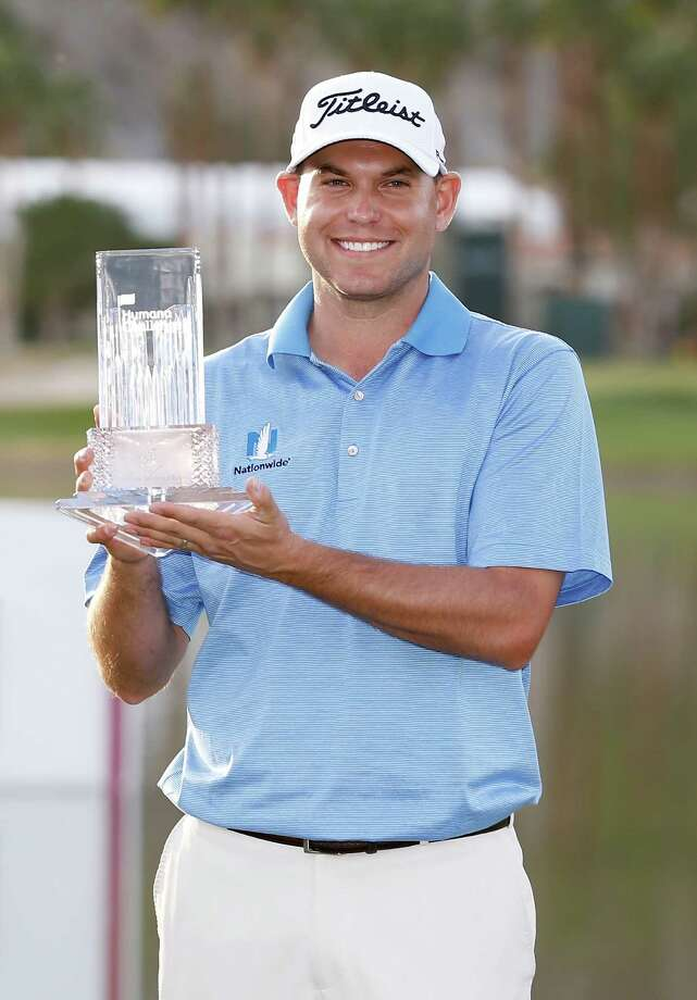 LA QUINTA, CA - JANUARY 25:  Bill Haas of the United States poses with the trophy after winning the final round of the Humana Challenge in partnership with The Clinton Foundation on the Arnold Palmer Private Course at PGA West on January 25, 2015 in La Quinta, California.  (Photo by Todd Warshaw/Getty Images) Photo: Todd Warshaw, Stringer / 2015 Getty Images