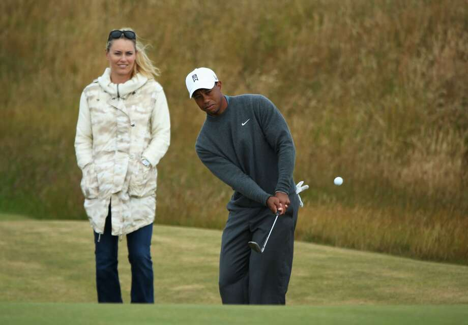 They're the most (in)famous couple in sports right now: Tiger Woods and Lindsey Vonn. After his marriage blew up, Tiger shocked the world by announcing on Facebook he was dating skier Vonn. The pair have been together since 2013, the year Vonn and first husband Thomas' divorce was finalized. Photo: Andy Lyons, Getty Images
