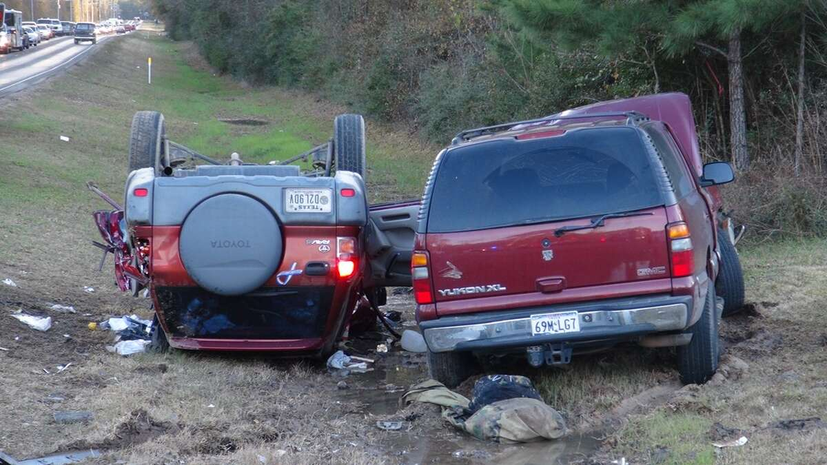 The Yukon's female driver suffered a minor leg injury but did not require medical attention. The RAV 4 occupants were taken to area hospitals.