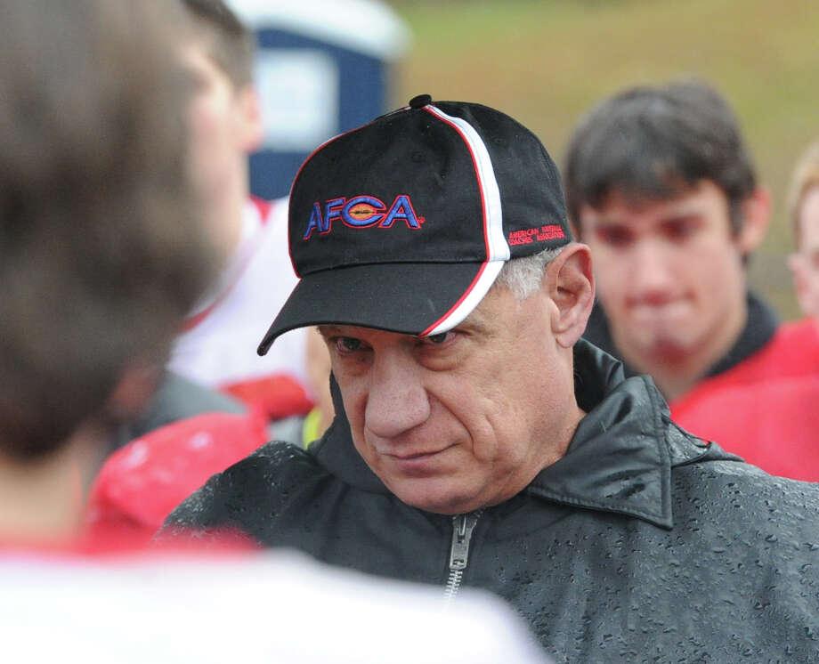 Greenwich High School Football Coach Rich Albonizio. Photo: Bob Luckey / Greenwich Time