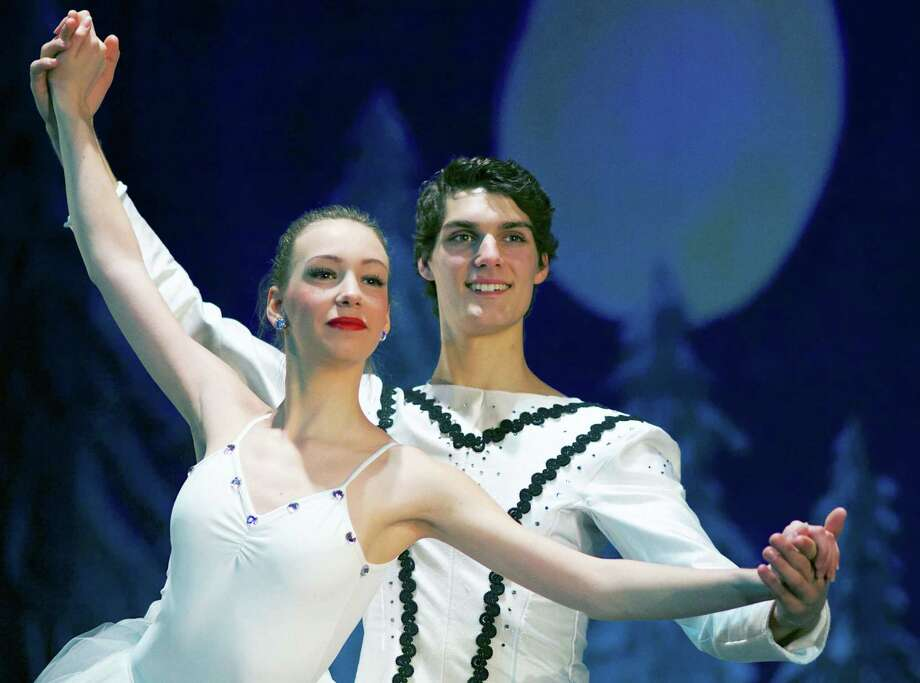 """Michelle Randall and Forrest Vorolieff perform in  """"The Nutcracker,"""" presented Dec. 20-21, 2014 at New Milford High School by student dancers from FineLine Theatre Arts. Photo: Trish Haldin / The News-Times Freelance"""