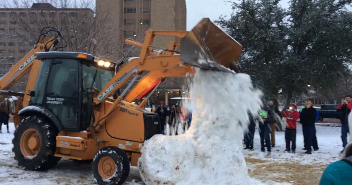 College Students Build an 11-Foot Snow Penis, Freak Out as