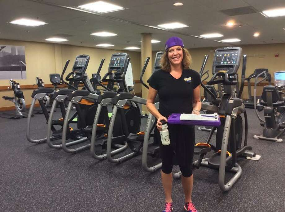 Biggest Loser Resort Chicago fitness trainer Sue Loftus is ready to put our writer through her workout. Photo: Michelle Newman / For The Express-News