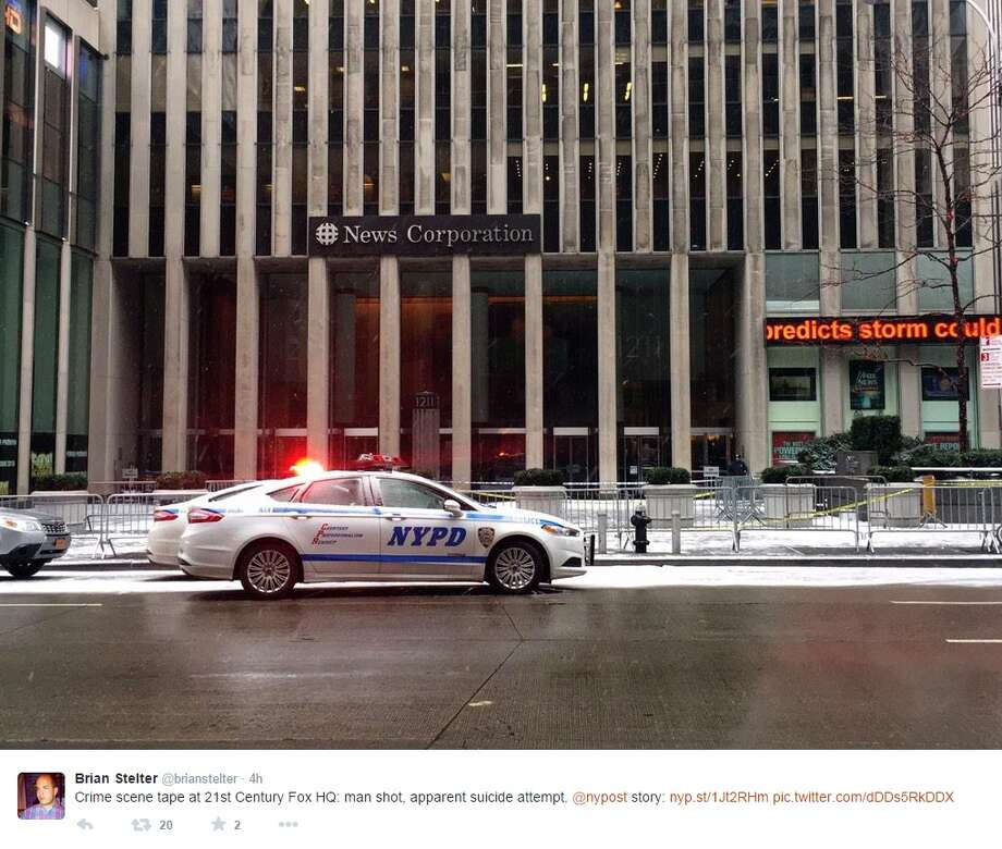 Phillip Perea shot and killed himself outside the FOX News Headquarters in New York City. Photo: Twitter