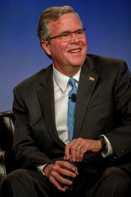 Former Florida Gov. Jeb Bush spoke at the National Automobile Dealers Association convention in San Francisco on Friday. Bush is considering running for the Republican nomination for president in 2016.