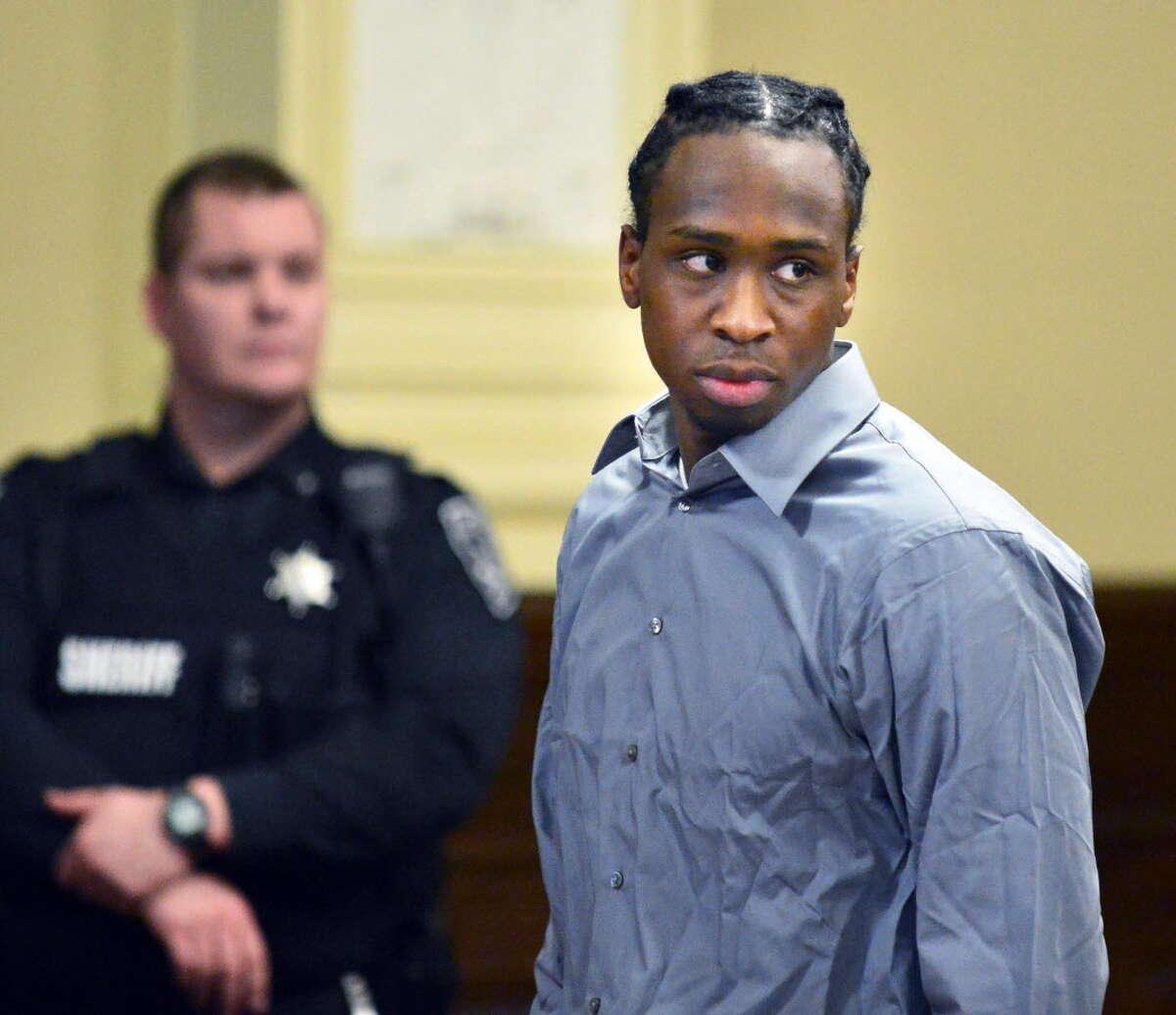 Quintril Clark, 23, of Troy, appears on Dec. 3, 2013, at the Rensselaer County Courthouse in Troy, NY. (John Carl D'Annibale / Times Union archive)