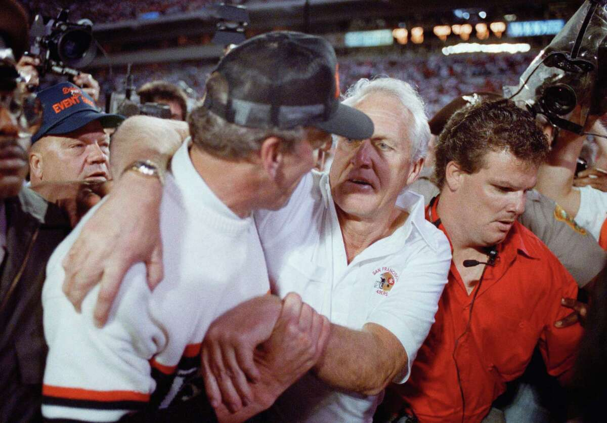 """Bill Walsh """"Finding the Winning Edge,"""" the biography ofSan Francisco 49ers coach Bill Walsh (center), is the 6th most sought-after out-of-print book of 2015, according to BookFinder.com."""