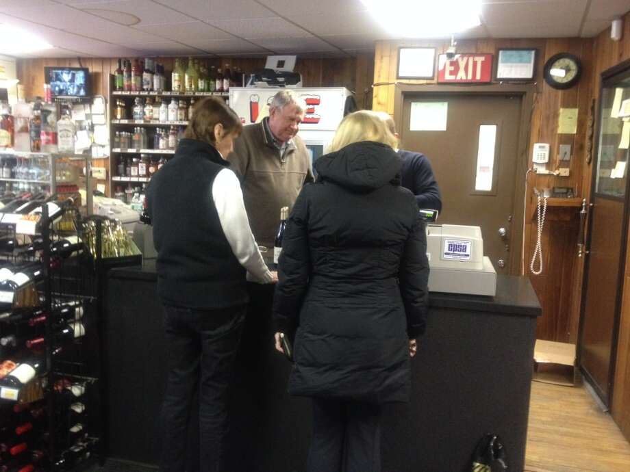 George Smith, proprietor of the Cos Cob Liquor Store was reporting very brisk sales.