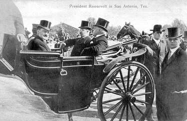 President Theodore Roosevelt at Rough Riders reunion in San Antonio 1905 Photo