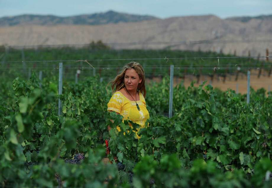 Angela Osborne at a vineyard in Ventucopa (Santa Barbara County) where she picks Grenache grapes for her label, A Tribute to Grace Wine Company. Photo: Erik Castro / Photo By: Erik Castro / ERIK CASTRO © 2015 all rights reserved