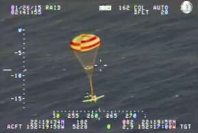 U.S Coast Guard video showing a Cirrus SR-22 4 passenger plane successfully deploying a parachute for emergency landing 235 miles short of Maui, Hawaii, January, 25th, 2015. The pilot was the only passenger and survived the ocean landing.