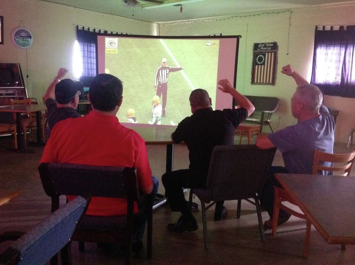 Sugar Land military veterans celebrate football and open their doors to the community to watch the Super Bowl on the projection screen TV at the American Legion Hall on Sunday, Feb 1. Doors open at 2 p.m.