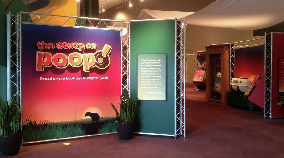 """The Scoop on Poop"" is based on Wayne Lynch's 2001 children's book and will be on display in the Houston Zoo's Brown Education Center until March 29. Photo: © Houston Zoo, Stephanie Adams"