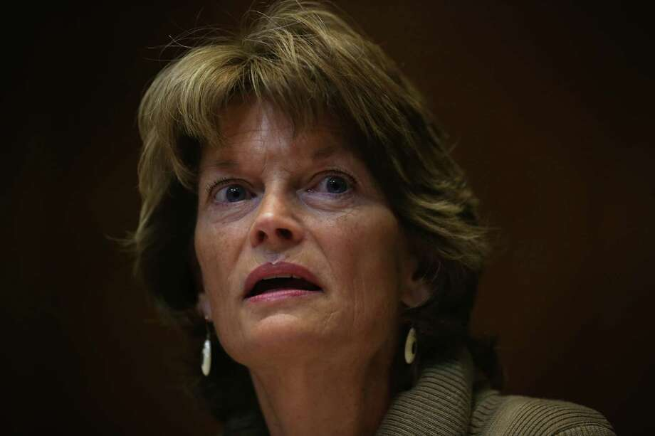 WASHINGTON, DC - JANUARY 08:  Committee chaiman U.S. Sen. Lisa Murkowski (R-AK) speaks duirng a markup hearing on Keystone XL pipeline before the Senate Energy and Natural Resources Committee as Sen. Maria Cantwell (D-WA) (L) looks on January 8, 2015 on Capitol Hill in Washington, DC. The White House has threatened to veto the Keystone XL pipeline legislation which will be the first bill to be voted on under the new Republican control Senate.  (Photo by Alex Wong/Getty Images) Photo: Alex Wong, Staff / 2015 Getty Images