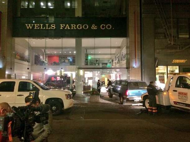 Thieves smashed an SUV into the original Wells Fargo Bank in San Francisco, making off with Gold Rush-era nuggets.