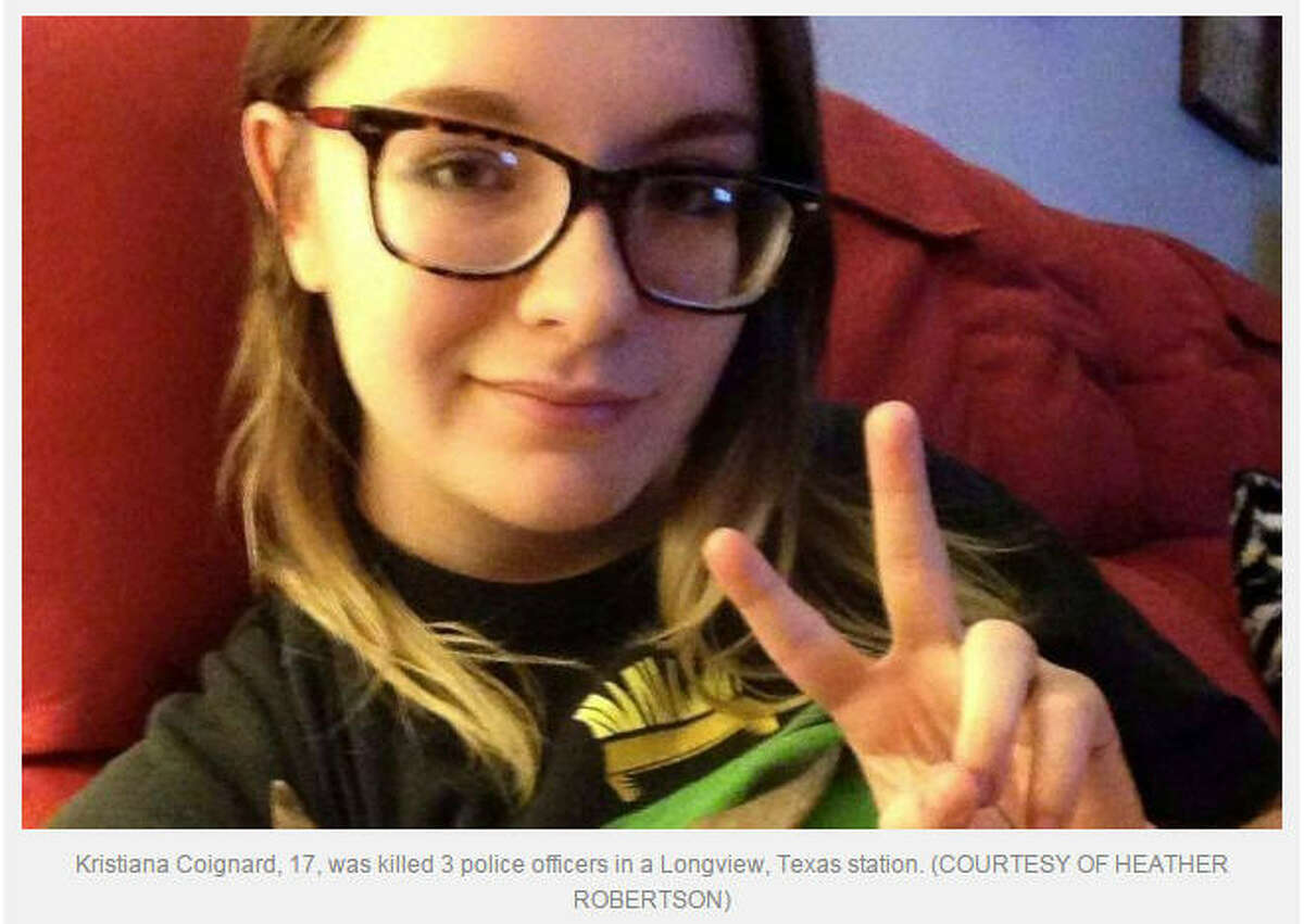 Kristiana Coignard, 17, was reportedly shot to death by Longview police officers in the lobby of the police station, Jan. 22, 2015. (Facebook)
