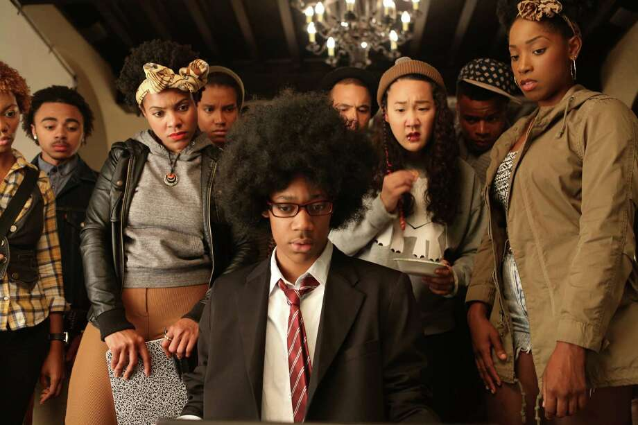 """""""Dear White People"""": At the center of director Justin Simien's debut film — """"Do the Right Thing""""  at an Ivy League college — is firebrand media student Sam White. """"Your favorite  director is Bergman but you tell your friends it's Spike Lee,"""" says her  boyfriend in a crucial scene leading up to a campus-roiling fight at a racist  Halloween party. The frustration at having to make those kinds of choices sparks  a lot of the anger in this Spirit Award-nominated dissection of racial tension  and identity politics. (Available to rent or buy) Photo: Ashley Nguyen /Associated Press / Roadside Attractions"""