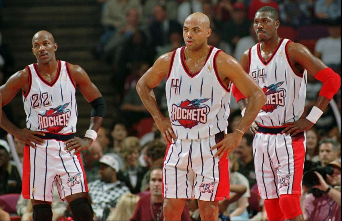 Rockets, mid-1990s In a curious move, the Rockets switched to these much-maligned cartooinish uniforms after winning their second championship in 1995.