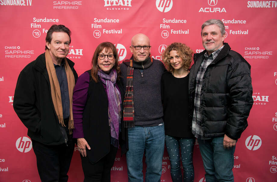 Author Lawrence Wright (left) is joined by Spanky Taylor, director Alex Gibney, Sara Bernstein and Mike Rinder at the Scientology film's premiere. Photo: Arthur Mola / Arthur Mola / Invision / Invision