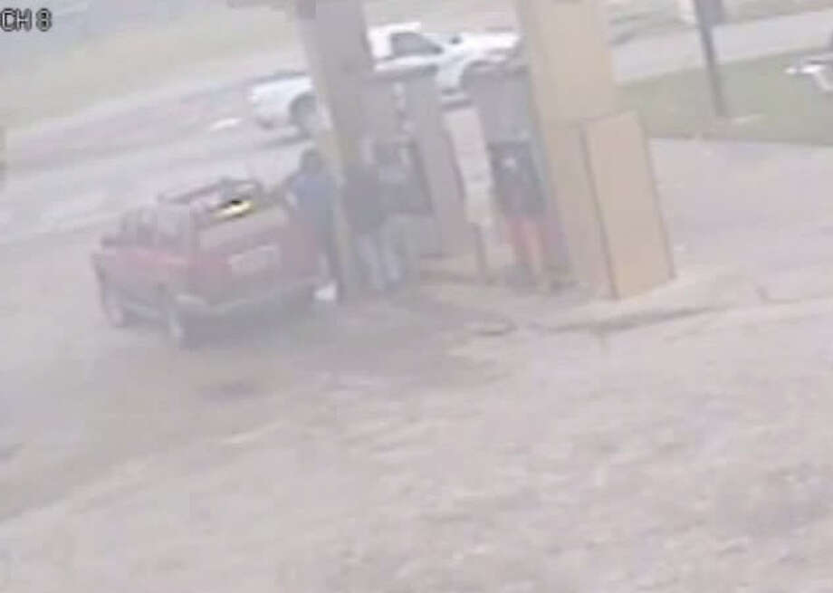 Authorities have released a surveillance video of a person of interest following an attempted car-jacking late last year as the victim pumped gas in his sport utility vehicle in east Harris County. Photo: Houston Police