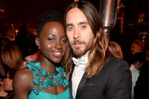 Actors Lupita Nyong'o (L) and Jared Leto attend the Weinstein Company & Netflix's 2014 SAG after party in partnership with Laura Mercier at Sunset Tower on January 18, 2014 in West Hollywood, California.