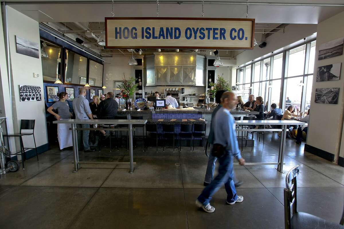 Hog Island Oyster Company  The incredibly popular oyster spot is always full at the SF Ferry Building and at its Marshall restaurant, but many of those diners probably wonder if an actual Hog Island even exists.