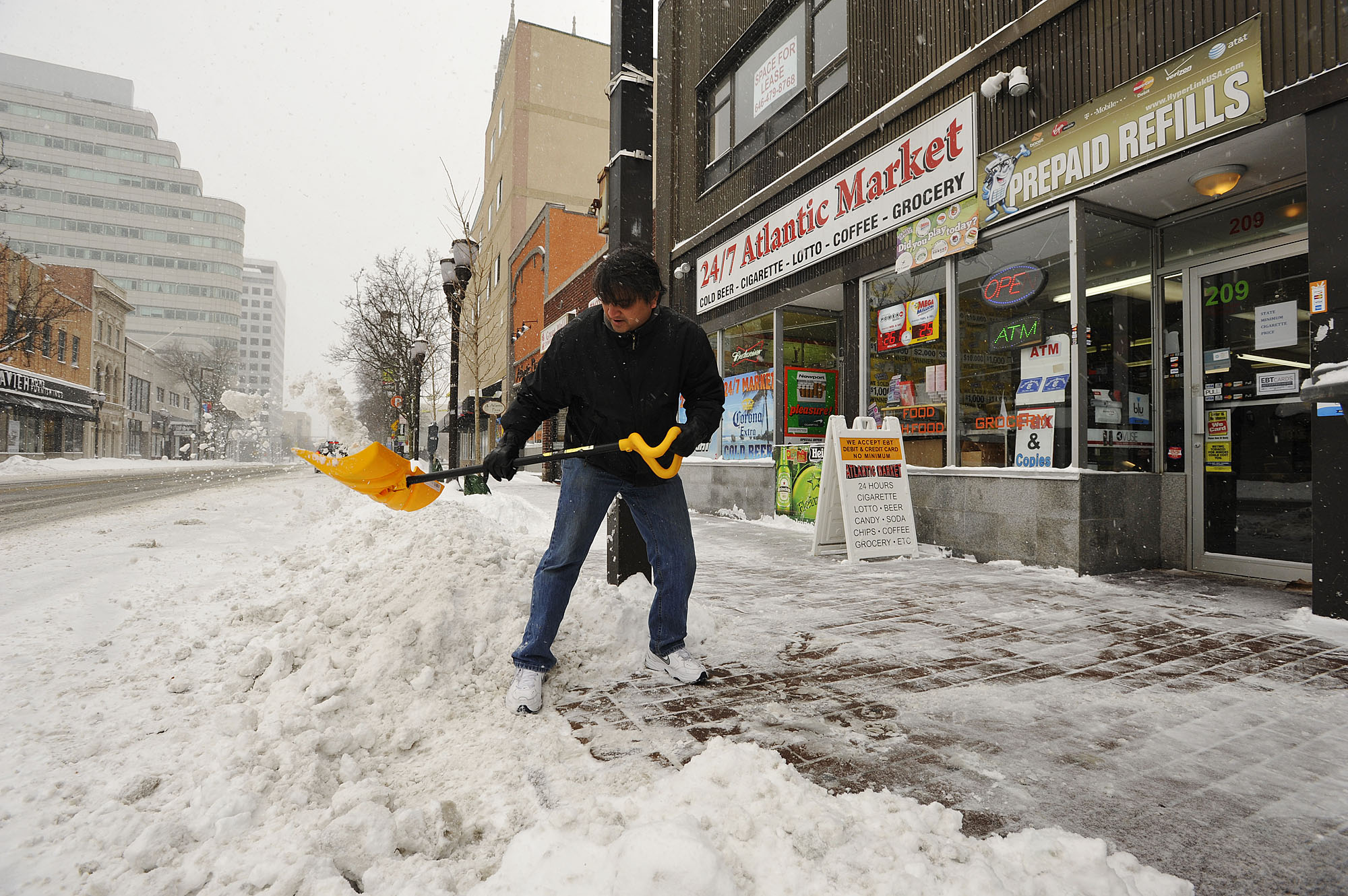 Stamford comes back to life after near miss with blizzard