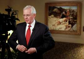 SALT LAKE CITY, UT - JANUARY 27: Mormon Apostle Todd Christofferson prepares for a TV interview after a news conference where it was announced The Church of Jesus Christ Of Latter-Day Saints stance on religious freedom and nondiscrimination when it comes to gay and LGBT issues currently being litigated in the United States and around the world on January 27, 2014 in Salt Lake City, Utah. The church announced it would seek legislation to protect the rights of those in the LGBT commutinty as long as religoius freedom weas also addressed.  The church announced it would seek legislation to protect the rights of those in the LGBT commutinty as long as religoius freedom weas also addressed.  (Photo by George Frey/Getty Images