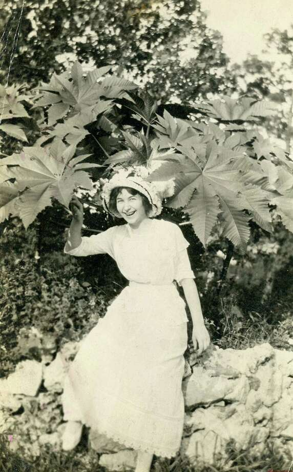 Ina Sparks Clay, aka Miss Classified, photographed at the city park. Photo: Houston Chronicle / Houston Chronicle