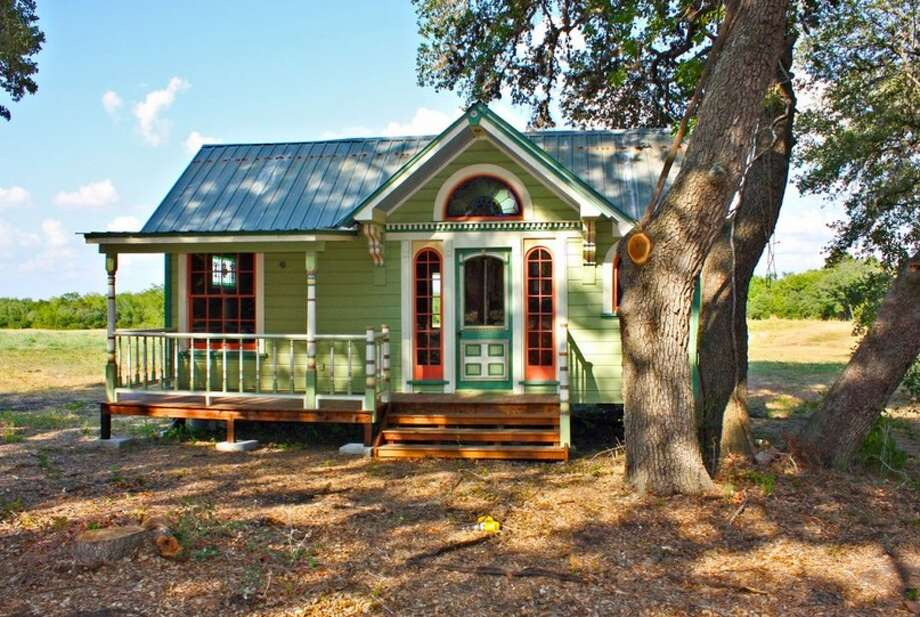 Tiny Texas Houses constructed this 12' by 26' home, Painted Lady, which has a built-in couch and freezer. Photo: Courtesy Photo/Tiny Texas Homes