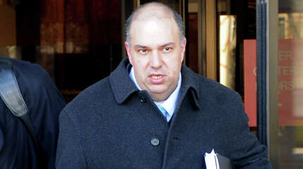 Francisco Illarramendi leaves Federal Court in Bridgeport, Conn. Monday, March, 7th, 2011, where he plead guilty to five counts involving investment advising and securities fraud.