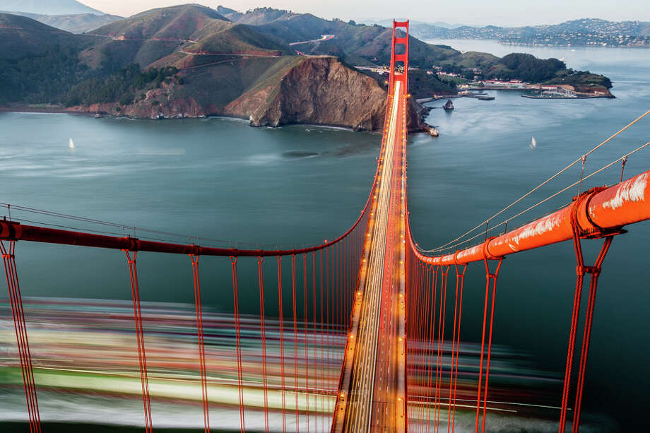 Views from the top of the south tower of the Golden Gate Bridge. Photo: Ross Barringer / ©Ross Barringer